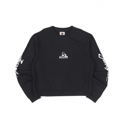 "JUNGLES - ""TRIPLE LOGO CREWNECK SWEAT SHIRT "" (BLACK)"