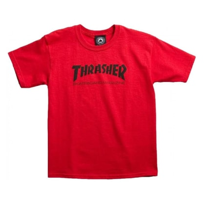 Thrasher Skate Mag Youth Kids T Shirt - Red