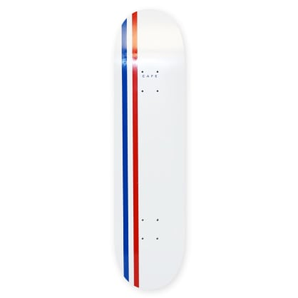 "Cafe - White/Royal/Red Stripe Deck (8.5"")"