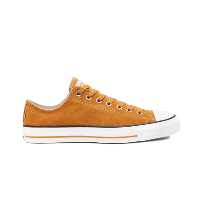 Converse Cons Classic Suede CTAS Pro Skateboarding Shoes - Gold / White / Sunflower