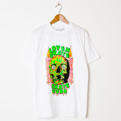 Lovenskate Skate Curb T-Shirt White