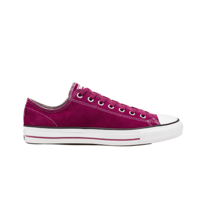 Converse Cons Classic Suede CTAS Pro Skateboarding Shoes - Maroon / White / Rose Maroon