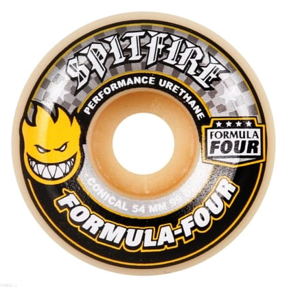 Spitfire Wheels F4 99D Conical Yellow Print 54mm
