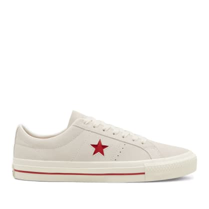 Converse CONS One Star Pro Ox Shoes - Egret / Claret Red / Egret