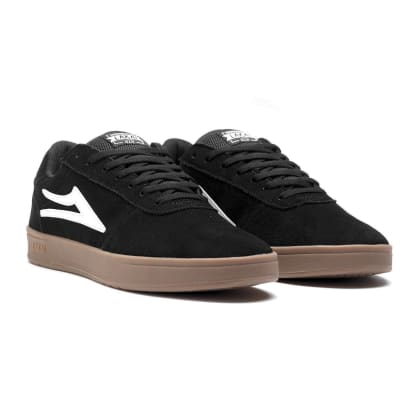 Lakai Skate Shoe Manchester XLK Black Gum Suede