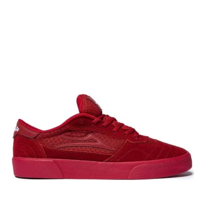 Lakai x Chocolate Cambridge Suede Skate Shoes - Reflective Red