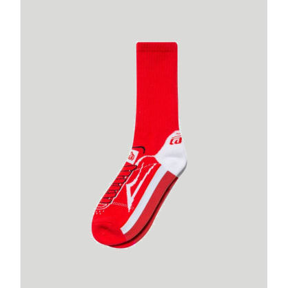 Lakai Manchester Crew Socks Red