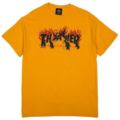 Thrasher Crows T-Shirt (Yellow)
