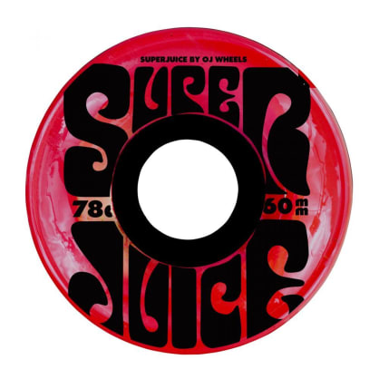 OJ Wheels Super Juice 78A Skateboard Wheels Trans Red - 60mm