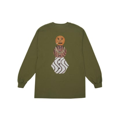 Quartersnacks - Snackman L/S Tee - Military Green