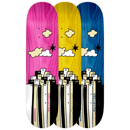 """Krooked Skateboards - 8.38"""" Mike Anderson Gathering Skateboard Deck - Various Stains"""