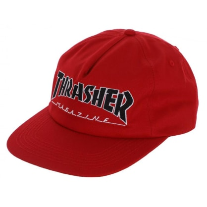 Thrasher Cap Outlined Snapback Red