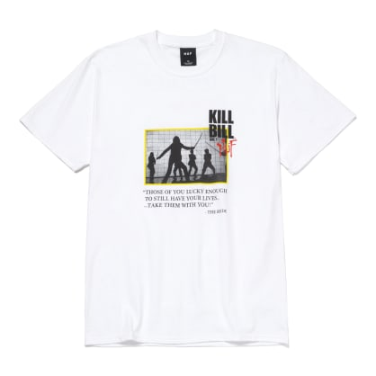 HUF x Kill Bill Death List T-Shirt - White