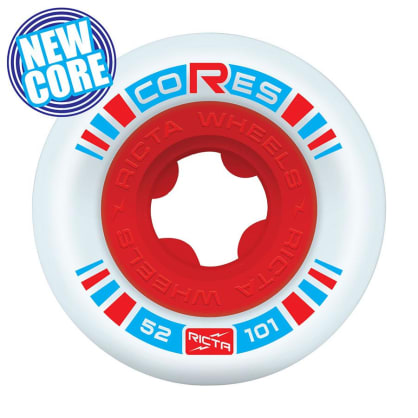 Ricta 52mm Cores Red 101a Skateboard Wheels