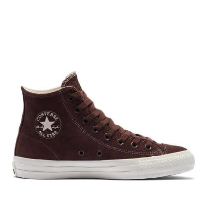 Converse CONS CTAS Pro High Top Suede Shoes - Dark Root / Egret