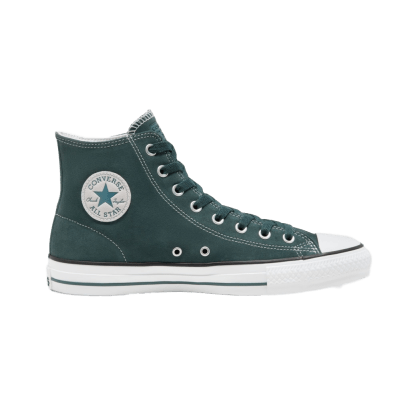 Converse Cons Classic Suede CTAS Pro High Top Skateboarding Shoes - Faded Spruce/White