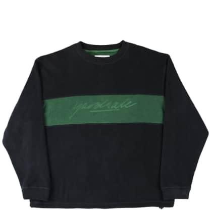 Yardsale Embossed Fleece Sweatshirt - Black / Forest Green