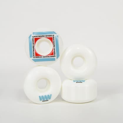 Wayward Wheels - 56mm (101a) H-Cut Waypoint Skateboard Wheels - White / Blue