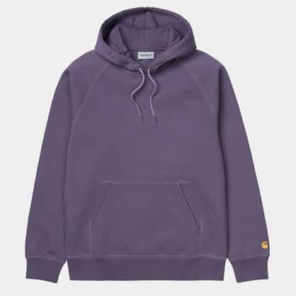 Carhartt WIP - Hooded Chase Sweat - Provence/Gold