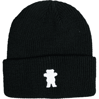 Grizzly OG Bear Embroidered Beanie- (Black)
