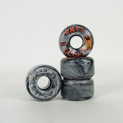Welcome Skateboards - 54mm (85A) Orbs Pug Soft Wheels - Black / White