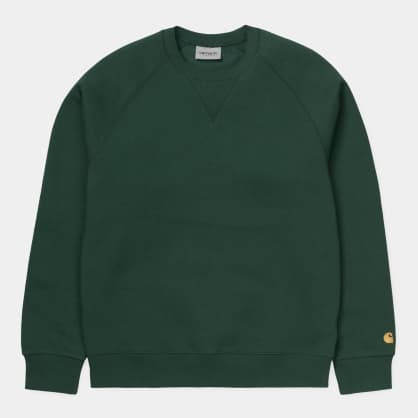 Carhartt WIP Chase Sweatshirt Treehouse - Gold