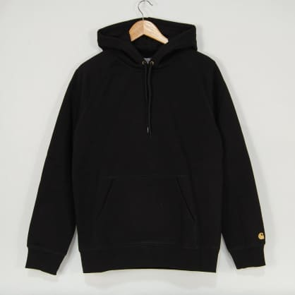 Carhartt WIP - Chase Pullover Hooded Sweatshirt - Black / Gold