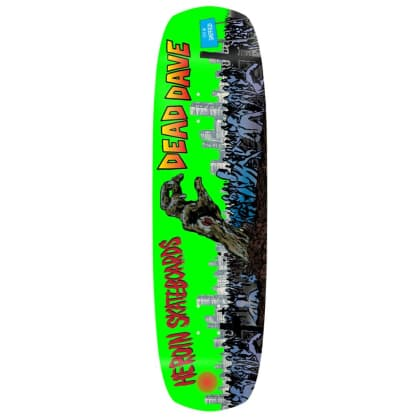 "Heroin Skateboards - Dead Dave Lives! Double Shovel Deck 9"" Wide"