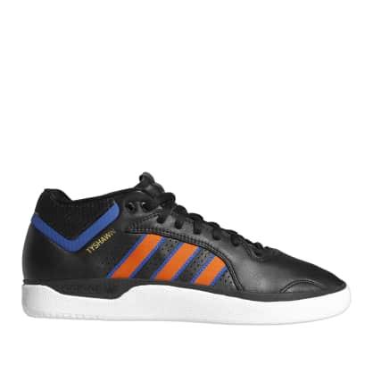 adidas Skateboarding Tyshawn Shoes - Core Black / Orange / Royal Blue