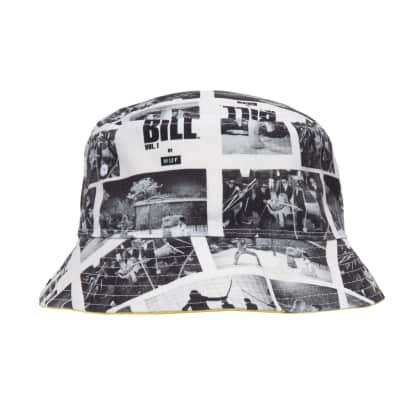 HUF x Kill Bill Reversible Bucket Hat - Yellow/Black/White
