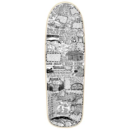 "Heroin Skateboards - Craig Questions Gold Rush Deck 10"" Wide"