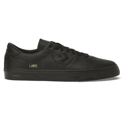 Converse Cons Leather Louie Lopez Pro Skateboarding Shoes - Black/Black/Black
