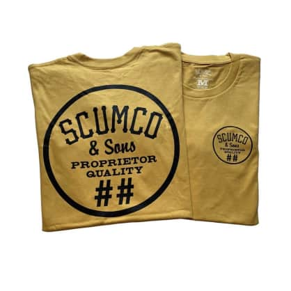Scumco & Sons Logo Tee Old Gold