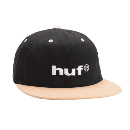 Huf 98 Logo 6 Panel Hat Black