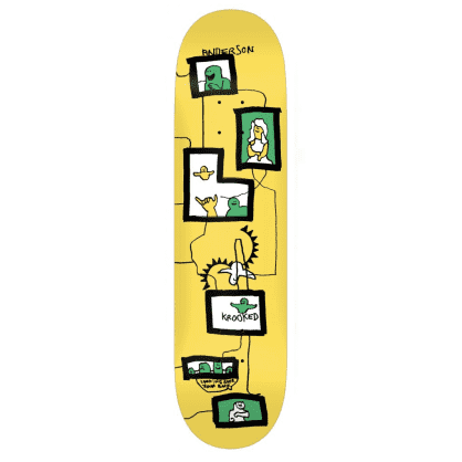 Krooked Skateboards Deck Anderson Frames Yellow 8.38""