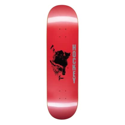 Hockey Chaos Red Skateboard Deck - 8.75""