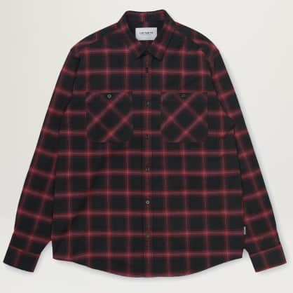 Carhartt WIP Darren Check Shirt (Bordeaux)