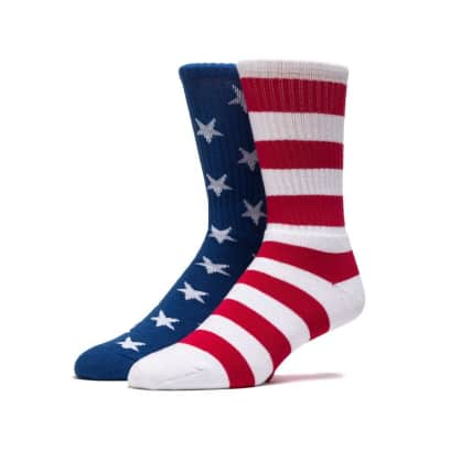 HUF STARS AND STRIPES SOCKS - RED WHITE BLUE