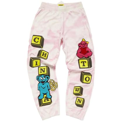 Chinatown Market Be Mine Sweatpants - Pink Tie Dye