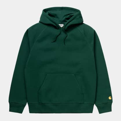Carhartt WIP Hooded Chase Sweatshirt Treehouse - Gold