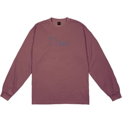 Dime Scribble Classic Logo Long Sleeve T-Shirt - Mauve