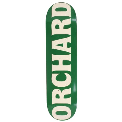"Orchard Text Logo Deck Green/Cream 8.5"""