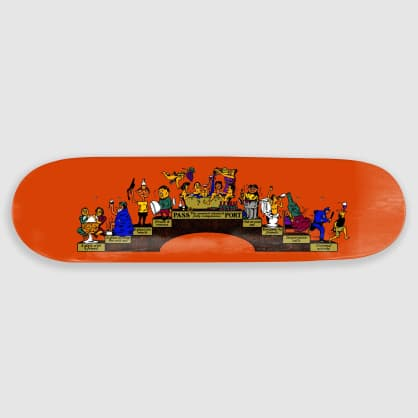 "Pass Port Skateboards - 8.125"" Singles Trickle Down Skateboard Deck"