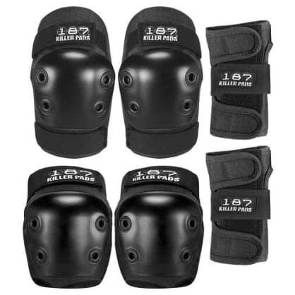 187 - 6pack Pad Set Jr Black