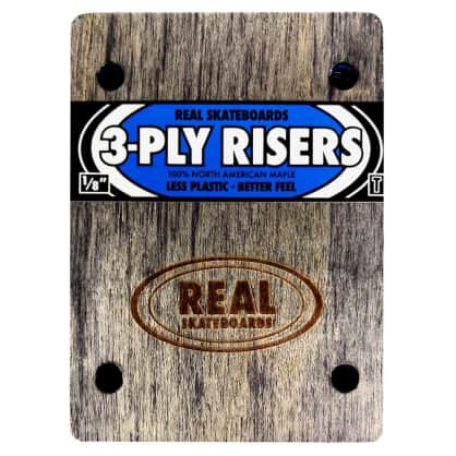 Real Skateboards Blue 3 Ply 1/8th Inch Riser