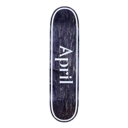 APRIL OG Logo Invert Black Deck