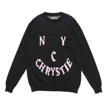 Chrystie NYC - Smile Logo Knit Sweater_Black