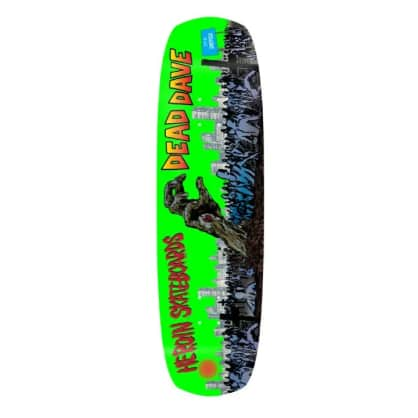 "Heroin Skateboards Dead Dave ""Dead Dave Lives"" Double Shovel Deck 9"""