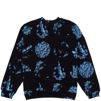Fucking Awesome Spiral AOP Sweatshirt - Black