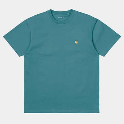 Carhartt WIP - S/S Chase T-shirt - Hydro/Gold
